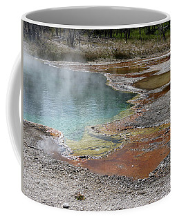 Coffee Mug featuring the photograph Hot Water At Yellowstone by Laurel Powell