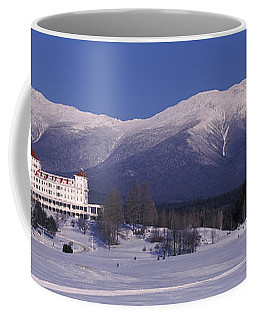 Hotel Near Snow Covered Mountains, Mt Coffee Mug