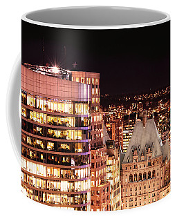 Coffee Mug featuring the photograph Hotel Vancouver And Wall Center Mdccv by Amyn Nasser