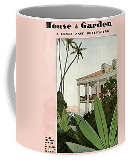 House & Garden Cover Illustration Coffee Mug