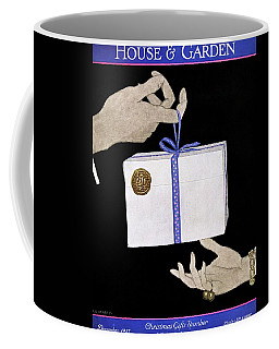 House And Garden Cover Illustration Of A Christmas Coffee Mug