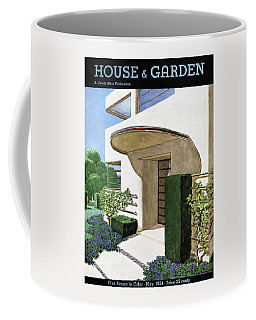 House & Garden Cover Illustration Of A Modern Coffee Mug