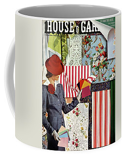 House & Garden Cover Illustration Of A Woman Coffee Mug
