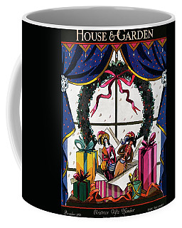 House & Garden Cover Illustration Of Christmas Coffee Mug