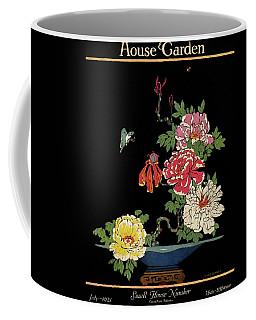 House & Garden Cover Illustration Of Peonies Coffee Mug