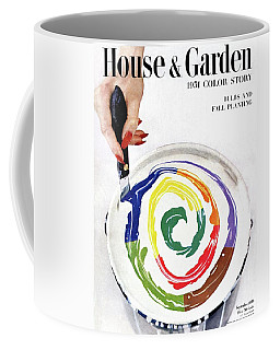 House & Garden Cover Of A Woman's Hand Stirring Coffee Mug