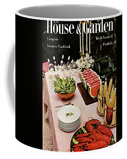 House And Garden Cover Featuring A Buffet Table Coffee Mug
