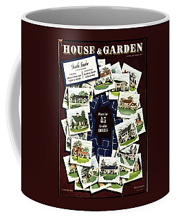 House And Garden Cover Featuring A Collage Coffee Mug