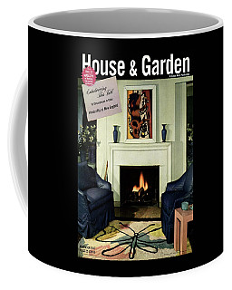 House And Garden Cover Featuring A Living Room Coffee Mug