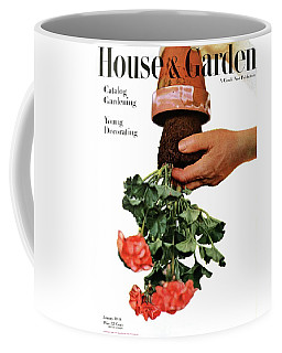 House And Garden Cover Featuring A Person Coffee Mug