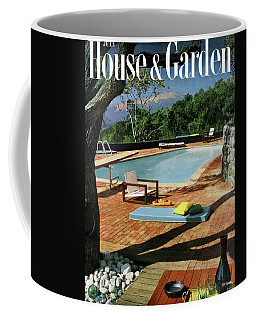 House And Garden Cover Featuring A Terrace Coffee Mug