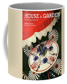 House And Garden Cover Featuring An Outdoor Table Coffee Mug