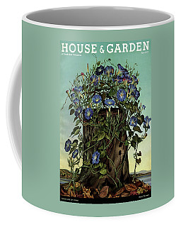 House And Garden Cover Featuring Flowers Growing Coffee Mug