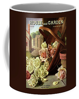 House And Garden Cover Of An Upturned Basket Coffee Mug