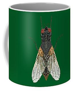 House Fly In Green Coffee Mug
