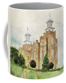 Coffee Mug featuring the painting House Of Defense by Greg Collins