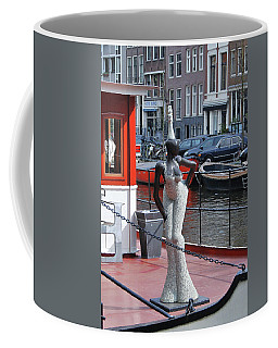 Coffee Mug featuring the photograph Houseboat Chanteuse by Allen Beatty
