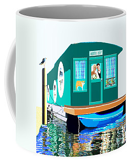 Houseboat Coffee Mug by Marian Cates
