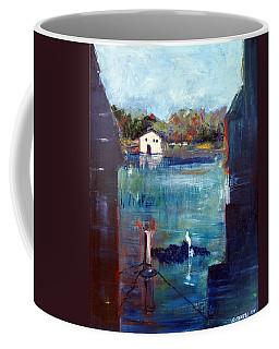 Houseboat Shadows Coffee Mug