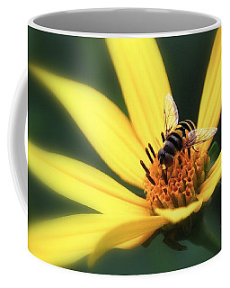 Hover Fly On Flower Coffee Mug by Ludwig Keck