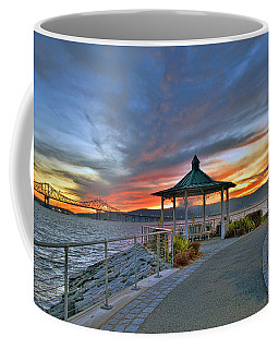 Hudson River Fiery Sky Coffee Mug