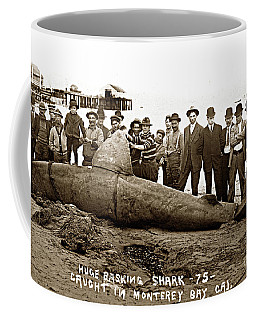 Huge Basking Shark Near Fishermans Wharf Monterey California Circa 1912 Coffee Mug