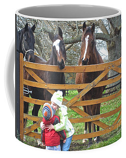 Hugs And Kisses Coffee Mug by Suzanne Oesterling
