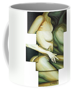 Coffee Mug featuring the painting Hug_sold by Fei A