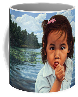 Coffee Mug featuring the painting Human-nature 48 by James W Johnson