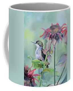 Hummingbird And Coneflowers Coffee Mug