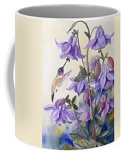 Hummingbird And Purple Columbine Coffee Mug