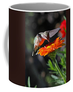 Hummingbird And Zinnia Coffee Mug