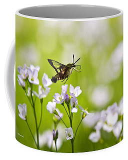Hummingbird Clearwing Moth Flying Away Coffee Mug