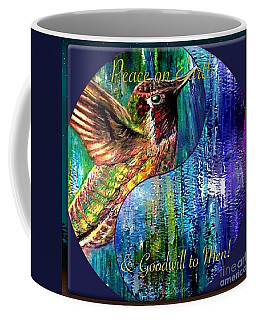 Hummingbird Mascot For Peace And Goodwill To Men Coffee Mug
