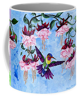 Hummingbird Triptych Coffee Mug