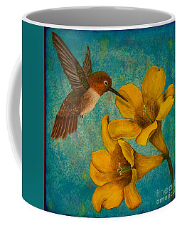 Hummingbird With Yellow Jasmine Coffee Mug