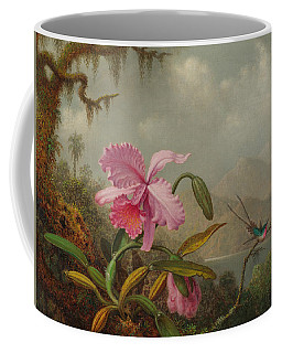 Hummingbirds And Orchids Coffee Mug