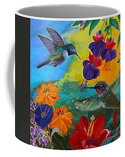 Hummingbirds Prayer Warriors Coffee Mug by Robin Maria Pedrero