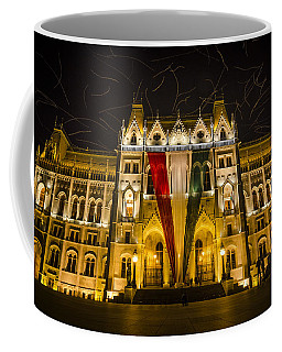 Hungarian Parliament At Night Coffee Mug
