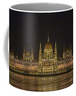 Hungarian Parliament Building Night Coffee Mug