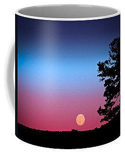 Coffee Mug featuring the photograph Hunter's Moonrise In Eastern Arizona by John Haldane