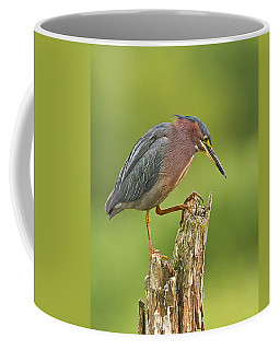 Hunting Green Heron Coffee Mug
