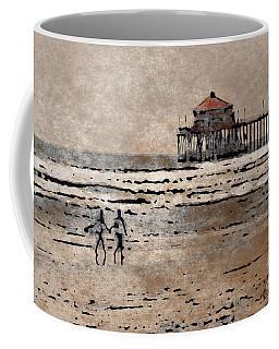 Huntington Beach Surfers Coffee Mug