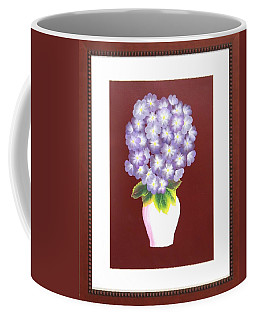 Coffee Mug featuring the painting Hydrangea by Ron Davidson
