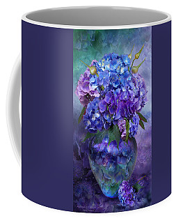 Hydrangeas In Hydrangea Vase Coffee Mug