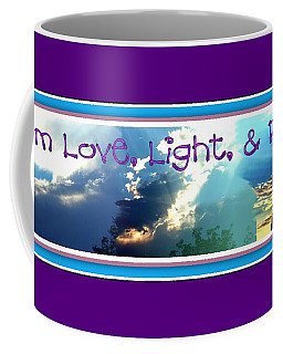 Coffee Mug featuring the photograph I Am Love Light Peace by Bobbee Rickard