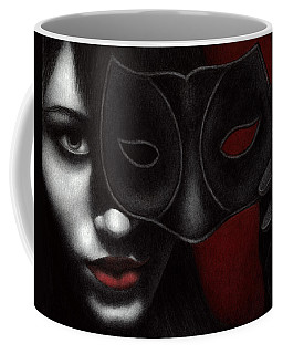 Coffee Mug featuring the painting I Am Only What I Allow You To See by Pat Erickson