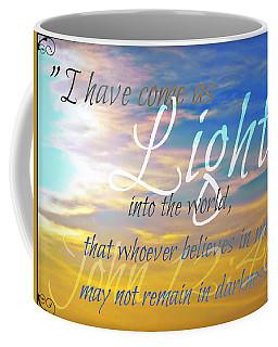 I Have Come As Light Coffee Mug by Sharon Soberon