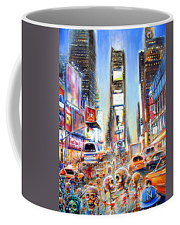 Coffee Mug featuring the painting I Heart Ny by Heather Calderon