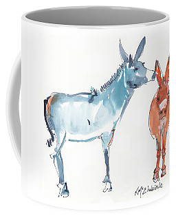 I Love You Donkey Art Watercolor Painting By Kmcelwaine Coffee Mug